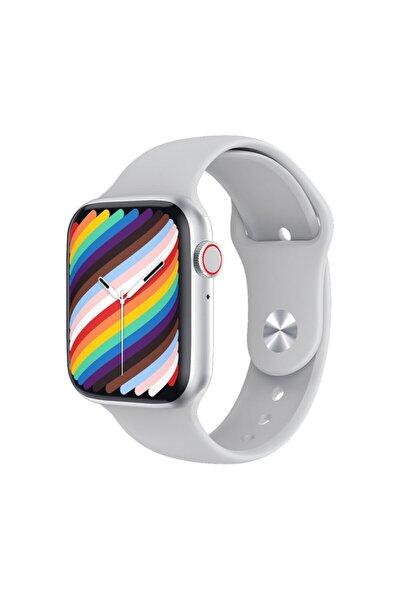 Iphone ve Android Uyumlu Watch 7 Plus Son Nesil Gümüş Yan Düğme İleri Geri ve Yakınlaştırma Aktif