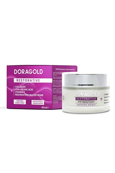 Restorative C Vitamini Kolajen Hyaluronic Acid Resveratrol Aydınlatıcı Yaşlanma Karşıtı Krem 45 ml