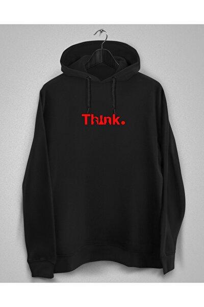 Siyah Satranç Baskılı Sweatshirt