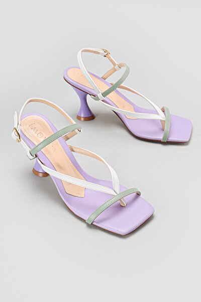 Lila Yüksek Topuklu Sandalet