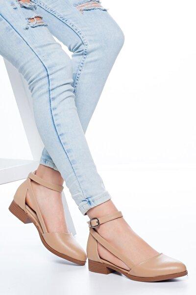 Kadın Ten Rayna Kısa Topuk Cilt Ayakkabı