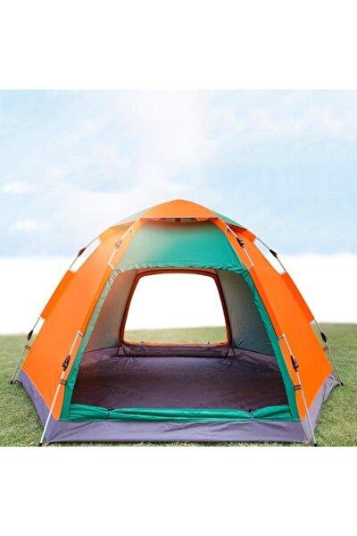Tam Otomatik 6-8 Kişilik Hexagonal Su Geçirmez Çadır Kamp Çadırı Aile Boyu 300*300*165cm Çift Kapılı