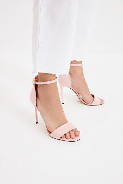 Pudra Kadın Klasik Topuklu Ayakkabı TAKSS21TO0070