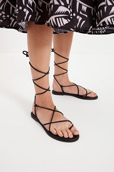 Siyah Kadın Sandalet TAKSS21SD0027