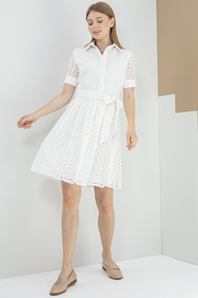 Elbise Polo Yaka Yarım Patlı, Fisto Kısa Kol