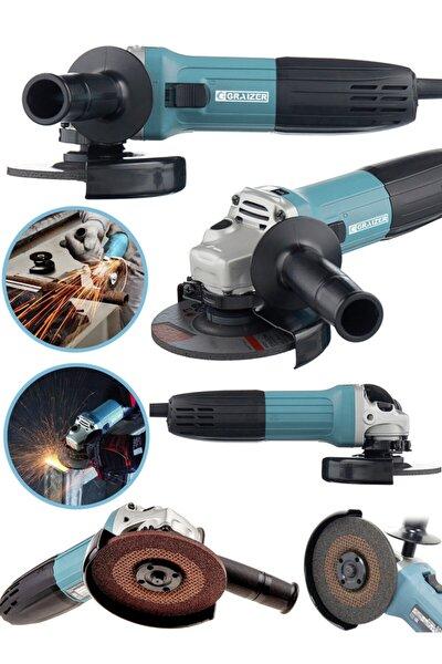 Alman 2000 Watt Professional Sjs Çift Metal Şanzuman Avuç Içi Taşlama Makinesi 125 Mm Mavi