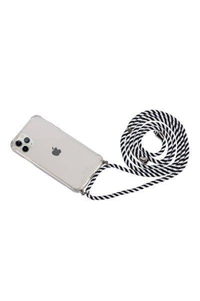 Iphone 11 Pro Uyumlu  Zebra Ipli Askılı Kılıf