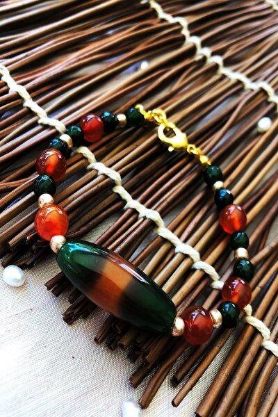 Dr Stone Doğaltaş el yapımı  afrika koleksiyonu Kadın akik taşı Bileklik YAHL28