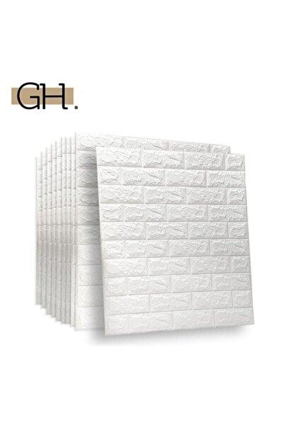 Kendinden Yapışkanlı 3d Tuğla Duvar Paneli Beyaz 77*70 Cm 0,53m2