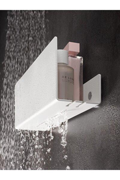 Beyaz Modern, Estetik Ve Minimalist Tasarım Metal Duş Rafı Paslanmaz Modern Metal Duş Rafı