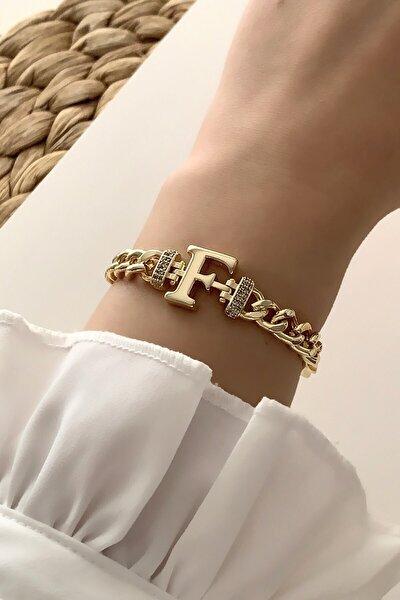 Gold F Harf Bileklik Trbilek7576 B34003