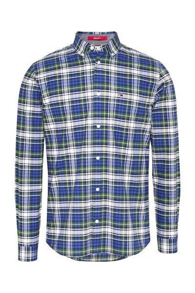 Erkek Gömlek TJM OXFORD CHECK SHIRT DM0DM09398