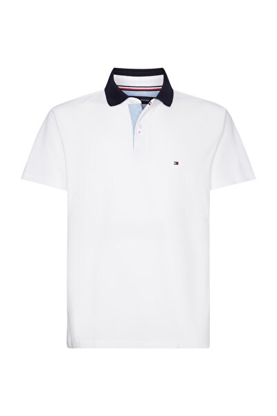 Erkek Beyaz Polo Yaka T-Shirt Undercollar Regular Polo MW0MW14149