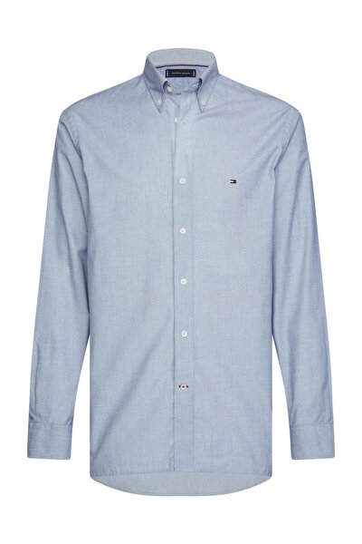 Erkek Mavi Gömlek Natural Soft End On End Shirt MW0MW12736