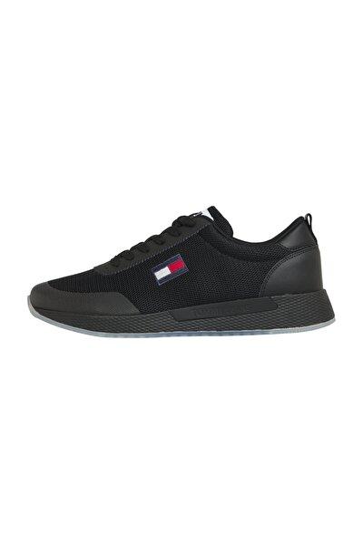 Erkek Siyah Sneaker Tommy Jeans Flexı Runner EM0EM00490