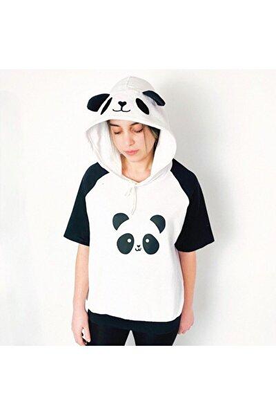 Panda Kapüşonlu Tişört