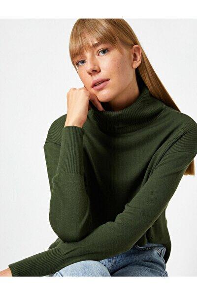 Kadın Yeşil Kazak