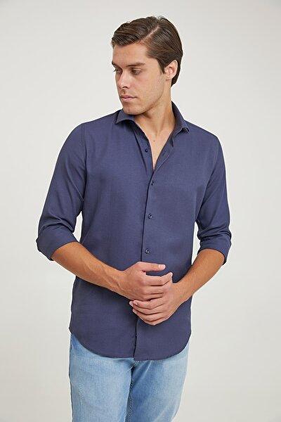 Slim Fit Lacivert Renk Erkek Gömlek 2HF02ORT3185_101