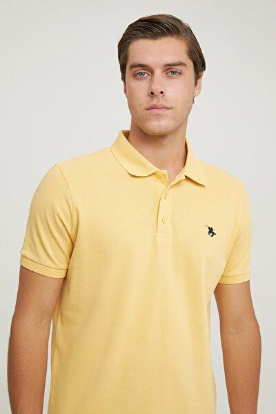 Regular Fit Açık Sarı Pike Dokulu T-shirt
