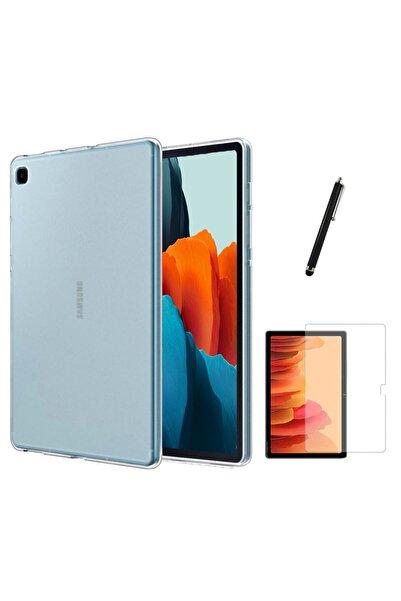 Galaxy Tab A7 Lite T225 Kılıf Tablet Süper Silikon Kapak Ekran Koruyucu Kalem Set