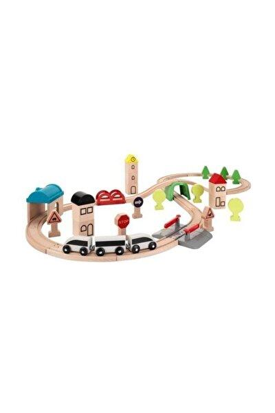 Lkea Lillabo Ahşap Oyuncak Tren Seti - 45 Parça