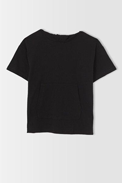 Erkek Çocuk Oversize Fit Kapüşonlu Kısa Kollu Tişört