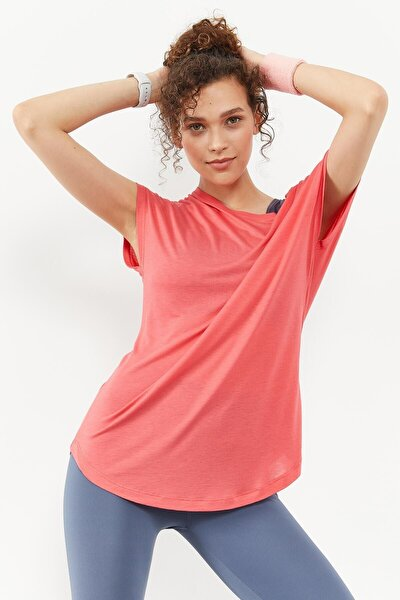 Tommylife Rose Kadın Basic Kısa Kol Rahat Form O Yaka T-shirt - 97151