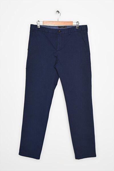 Erkek Mavi Pantolon Pamuk Stretch Regular Fit Pants TT0TT04458