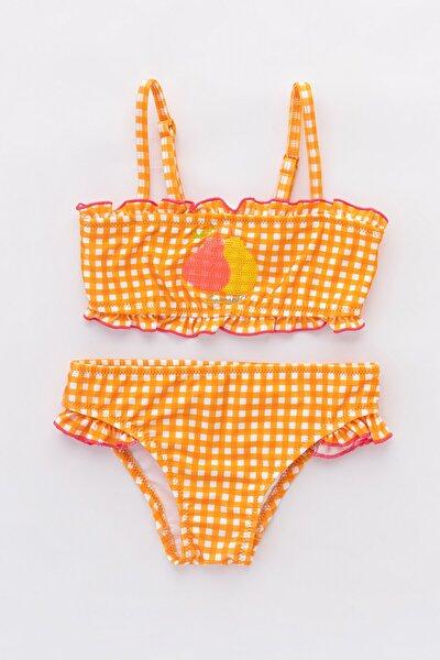Çok Renkli Kız Çocuk Sweet Fruit Bikini Takımı