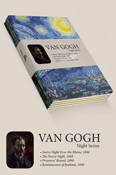 Van Gogh 4'lü Defter Seti 1 - Night Series - Çizgisiz - 64 Sayfa - 14x21cm