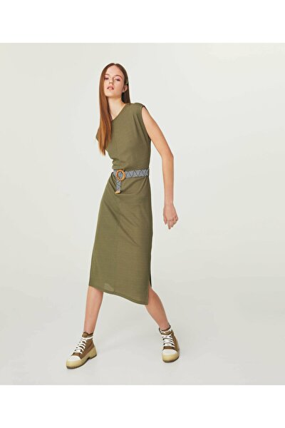 Kemerli Midi Elbise