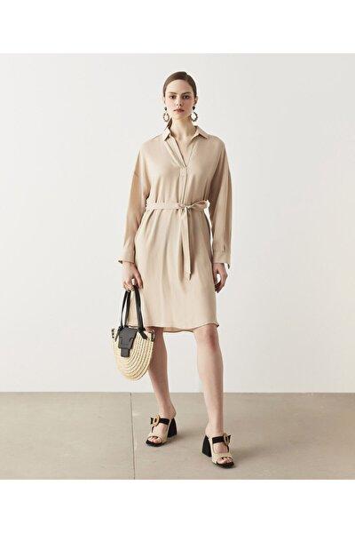 Kuşaklı Tencel™ Elbise