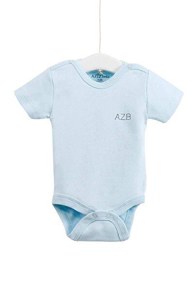 Bebek Çıtçıtlı Kısa Kollu Badi 0-12 Ay Azz001651