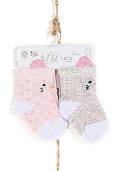 Kız Bebek-çocuk Çorap 2li Takım 0-3 Yaş Azzc35422karmelanj
