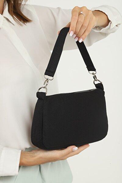U16 Siyah Baget El Ve Omuz Çantası U:15cm E:25 Cm G:7cm