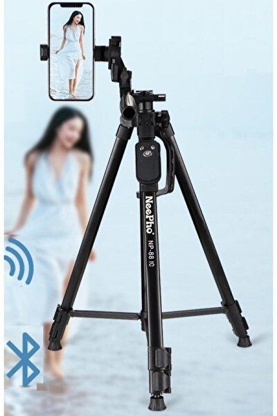 Bluetooth Kumandalı 150 Cm Çantalı Telefon Fotoğraf Makinesi Tutucu Tripot Np-8810