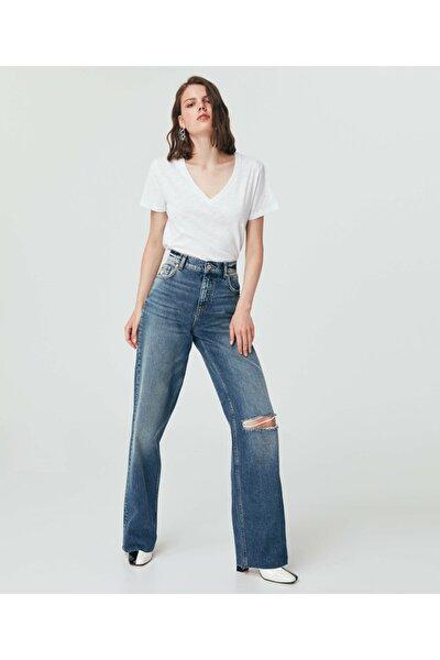 The 90s Full Length Rıpped Jean Pantolon