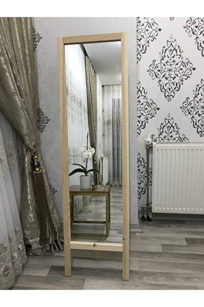 Ayaklı Boy Aynası Masif Ahşap 41x145cm (BOYASIZ TAMAMEN DOĞAL)