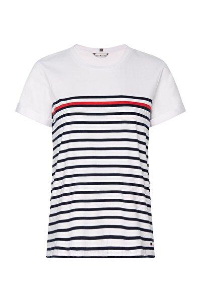 Kadın Mavi T-Shirt Glb Stp Regular Round-Nk Top Ss WW0WW28282