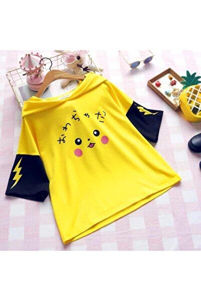 Hardal Sarısı Pikachu Model Kore Tarzı Tshirt