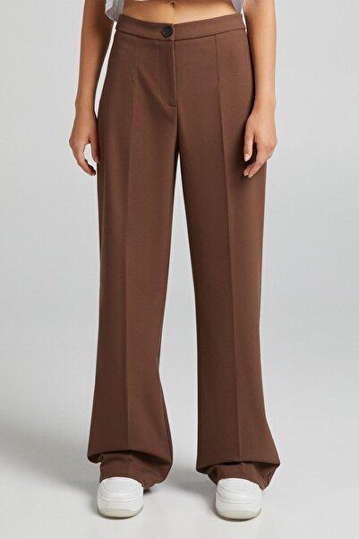 Arka Cepli Wide Leg Pantolon
