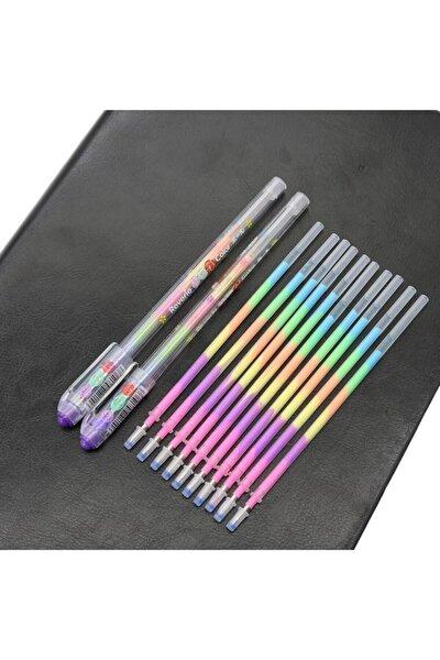 Gökkuşağı Tukenmez Kalem 1 Adet Ve 3 Adet Yedek Kalem Içi Reffil