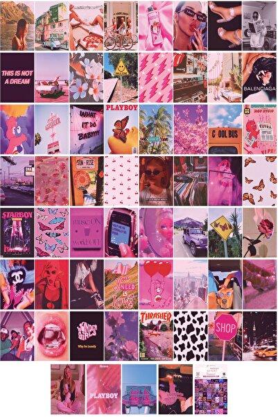 Aesthetic Pink Indie 60'lı Duvar Posteri Seti