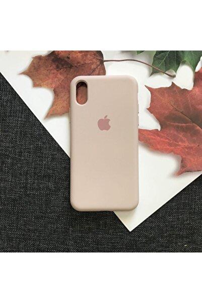 Iphone X/xs Logolu Lansman Içi Kadife Silikon Kılıf