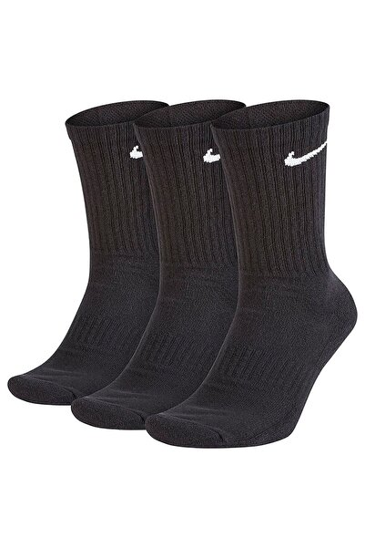 Unisex Siyah Everyday Cush No-Show Çorap Seti 3'lü SX7676-010