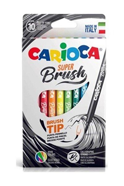 Süper Brush Fırça Uçlu Keçeli Boya Kalemi 10lu