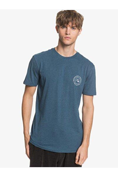 Erkek Mavi Bisiklet Rollingonss Arka Baskılı Tişört
