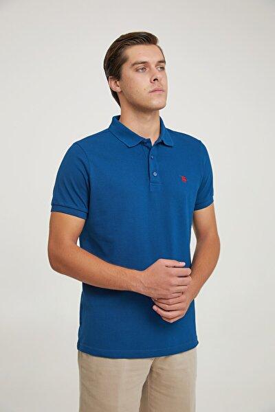 Regular Fit Lacivert Pike Dokulu T-shirt