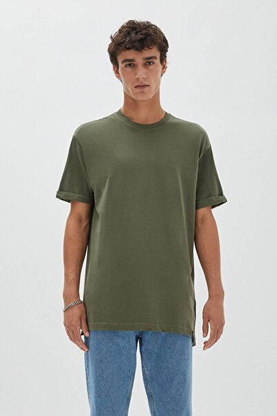 Basic Renkli Uzun T-Shirt