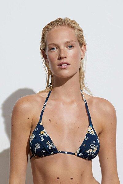 Minik Çiçekli Üçgen Bikini